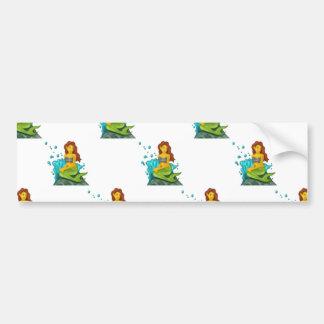 emoji mermaid bumper sticker