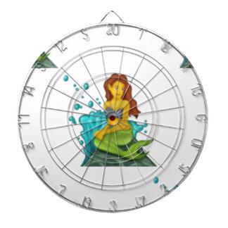 emoji mermaid dartboard