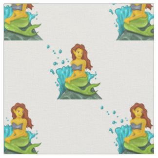 emoji mermaid fabric