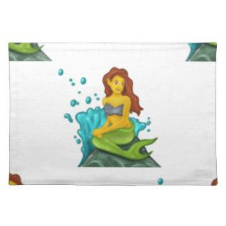 emoji mermaid placemat