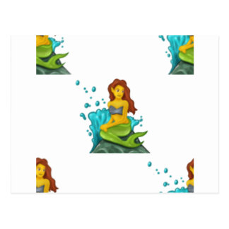 emoji mermaid postcard