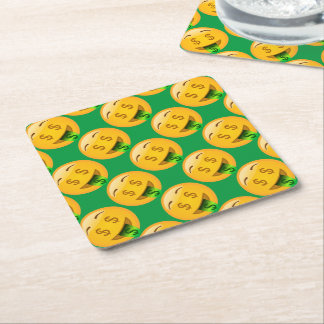 EMoji Money Face Party Supplies Square Paper Coaster