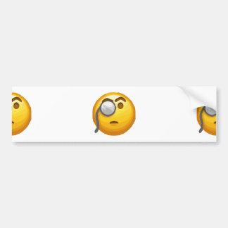emoji monocle bumper sticker
