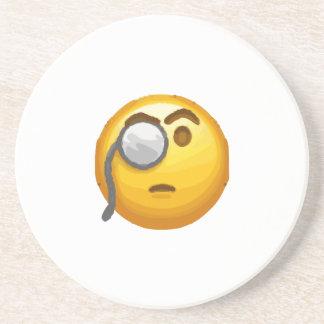 emoji monocle coaster