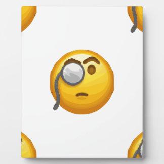 emoji monocle display plaque