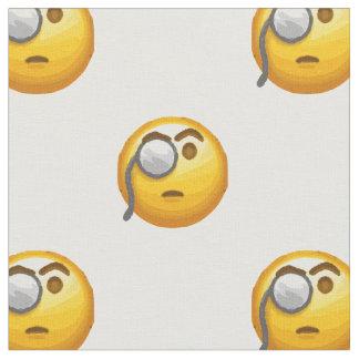 emoji monocle fabric