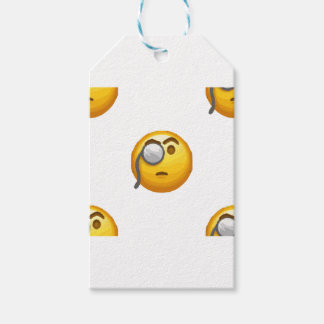 emoji monocle gift tags