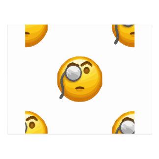 emoji monocle postcard