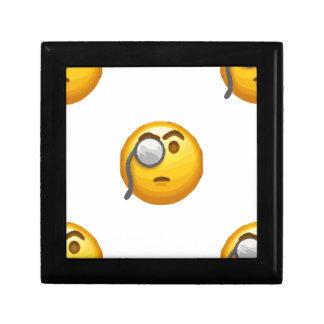 emoji monocle small square gift box