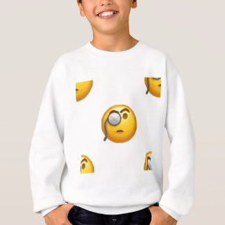 emoji monocle sweatshirt