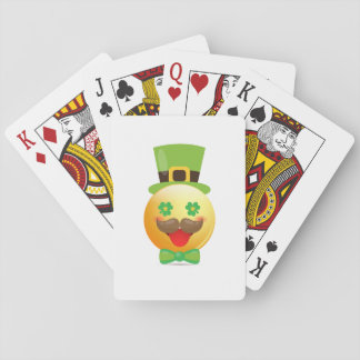 Emoji Mustache Funny St Patricks Day Girls Boys Playing Cards