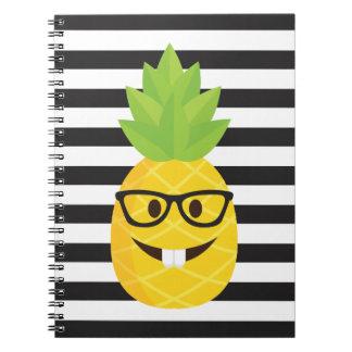 emoji nerd pineapple notebook