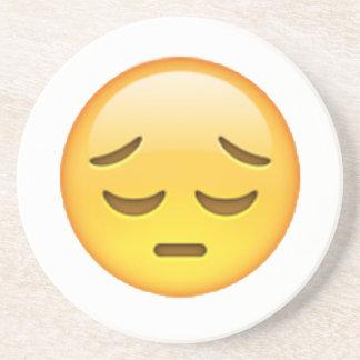 Emoji - Pensive Coaster