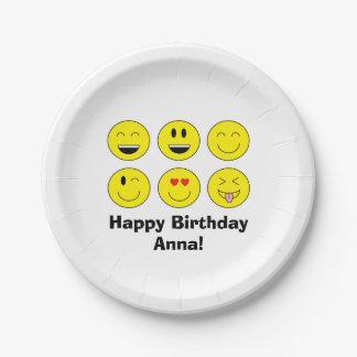 Emoji Personalized Paper Plates
