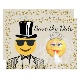 Emoji Photo Save the Date Card