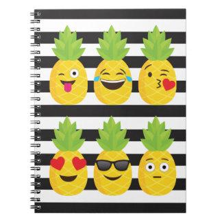 emoji pineapple notebooks