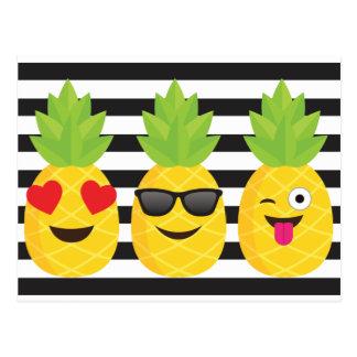 emoji pineapple postcard