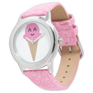 Emoji pink ice cream wach watch
