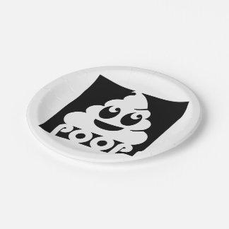 Emoji Poo Square 7 Inch Paper Plate