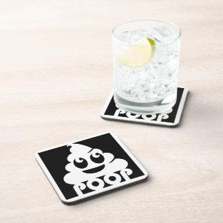 Emoji Poo Square Drink Coaster