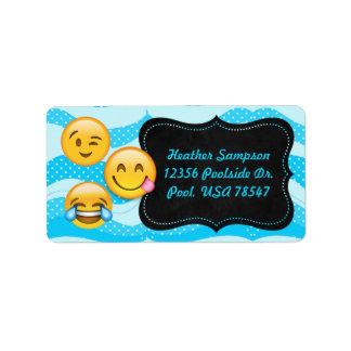 Emoji Pool Party Chalkboard Address Labels
