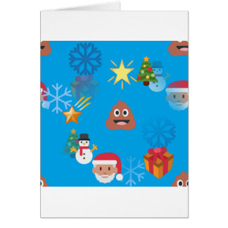 emoji poop christmas card