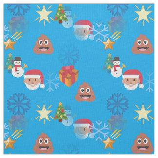 emoji poop christmas fabric