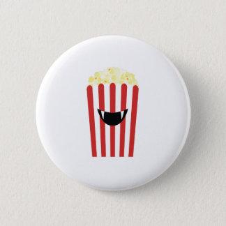 Emoji Popcorn Halloween - Halloween Funny Gift 6 Cm Round Badge