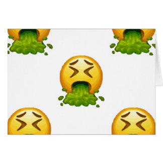 emoji puking card