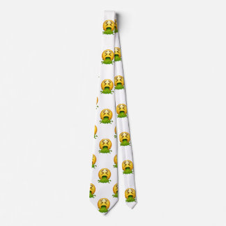 emoji puking menswear mens necktie neck tie
