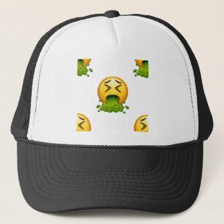 emoji puking trucker hat
