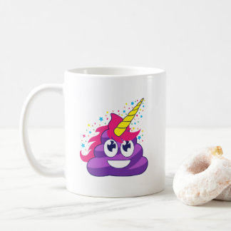 Emoji Purple Unicorn Poop Coffee Mug