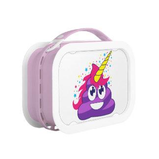 Emoji Purple Unicorn Poop Lunch Box