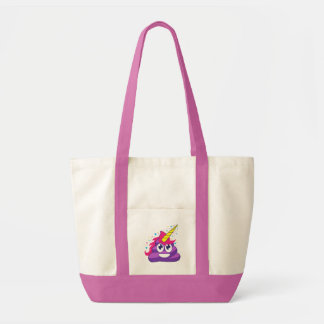 Emoji Purple Unicorn Poop Tote Bag