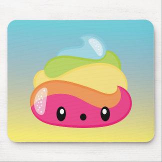 Emoji Raimbow Poop! Mouse Pad