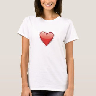 Emoji Red Love Heart T-Shirt