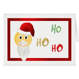 Emoji Santa Christmas Note Card