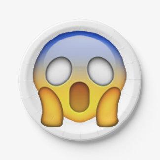Emoji - Screaming Paper Plate