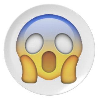 Emoji - Screaming Plate