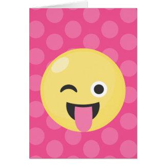 Emoji Silly Dots Card