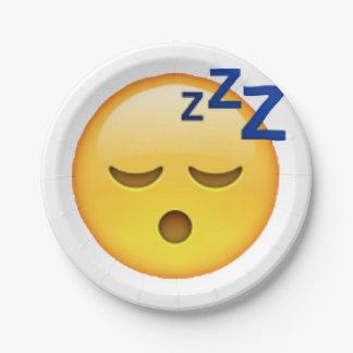 Emoji - Sleeping Paper Plate