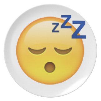 Emoji - Sleeping Plate