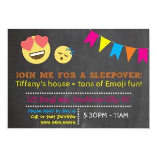 Emoji Sleepover Birthday Card