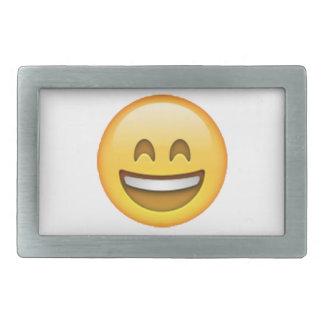 Emoji - Smile Closed Eyes Rectangular Belt Buckles