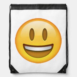 Emoji - Smile Open Eyes Drawstring Bag