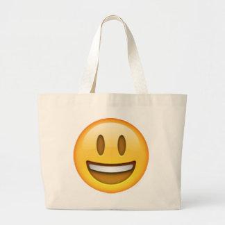 Emoji - Smile Open Eyes Large Tote Bag