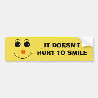 Emoji Smiley Face Bumper Sticker