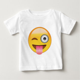 Emoji - Smiley Face With Tongue Baby T-Shirt