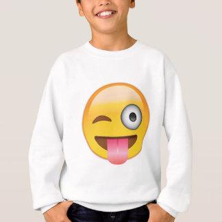 Emoji - Smiley Face With Tongue Sweatshirt