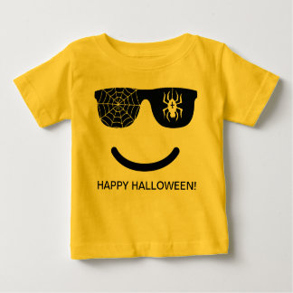 Emoji Smiling Face Funny Halloween Costume Baby T-Shirt